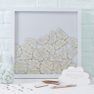 Ginger Ray Cloud Drop Top Frame Guest Book - Hello World