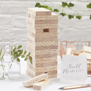 Ginger Ray Build a Memory Building Blocks Guest Book - Beautiful Botanics