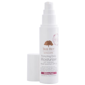 TREE HUT Protecting Daily Moisturizer with Sunscreen Broad Spectrum SPF 30 Refining Rose