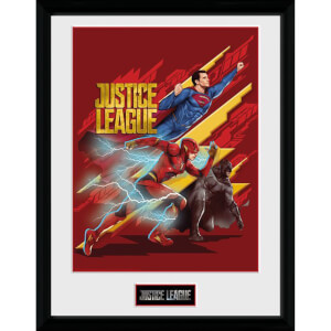 DC Comics Justice League Trio 12 x 16 Inches Framed Photograph