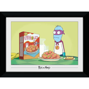 Rick and Morty Eyehole Man 50 x 70cm Framed Photograph