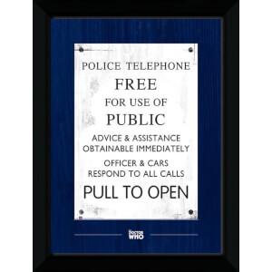 Doctor Who Tardis Sign 50 x 70cm Framed Photograph