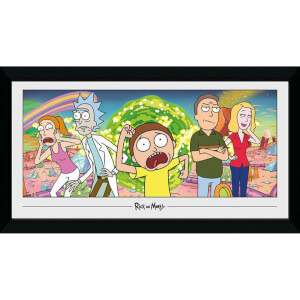 Rick and Morty Group 50 x 100cm Framed Photograph