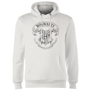 Sweat à Capuche Homme Blason Poudlard - Harry Potter - Blanc