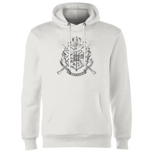 Sweat à Capuche Homme Blason Maisons de Poudlard - Harry Potter - Blanc
