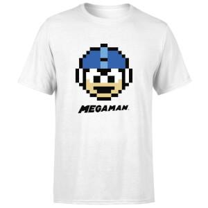 Mega Man Pixel Face Men's T-Shirt - White