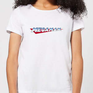 Mega Man Logo Dames T-shirt - Wit