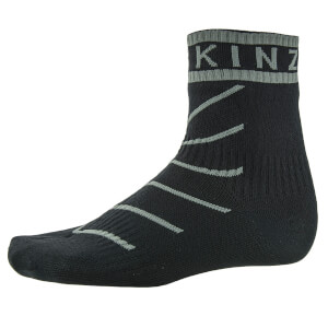 Sealskinz Super Thin Road Pro Ankle Socks with Hydrostop - Black/Grey