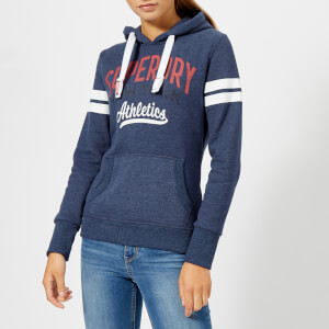 Superdry Women's NY Athletics Hoody - Princedom Blue Marl