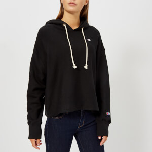 Champion Women's Hooded Cropped Sweatshirt - Black
