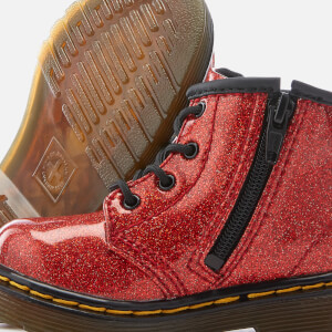 Dr. Martens Toddlers' 1460 I Glitter Lace Up Boots - Red Multi: Image 4
