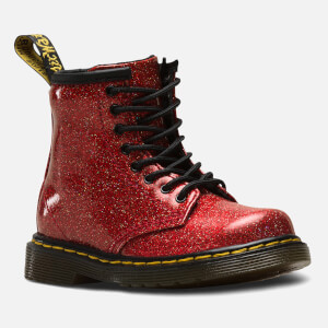 Dr. Martens Toddlers' 1460 I Glitter Lace Up Boots - Red Multi: Image 2