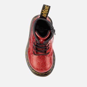 Dr. Martens Toddlers' 1460 I Glitter Lace Up Boots - Red Multi: Image 3