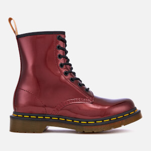 Dr. Martens Women's 1460 Vegan Chrome Metallic 8-Eye Boots - Oxblood