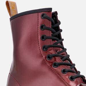 Dr. Martens Women's 1460 Vegan Chrome Metallic 8-Eye Boots - Oxblood: Image 4