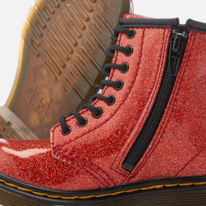 Dr. Martens Kids' 1460 T Glitter Lace Up Boots - Red Multi: Image 4