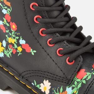 Dr. Martens Kids' 1460 J Pooch Flower T Lamper Leather Lace Up Boots - Black: Image 4