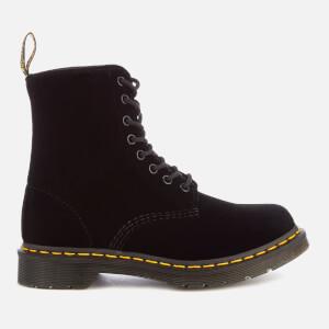 Dr. Martens Women's 1460 Velvet Pascal 8-Eye Boots - Black