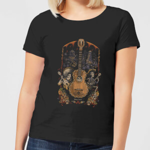 Coco Guitar Poster Women's T-Shirt - Black