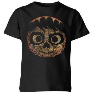 Coco Miguel Face Kinder T-Shirt - Schwarz