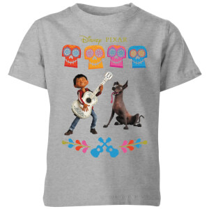 Coco Miguel Logo Kids' T-Shirt - Grey