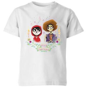 Camiseta Coco Disney Miguel y Héctor - Niño - Blanco