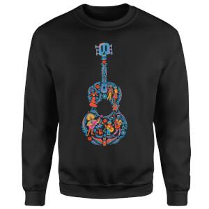 Coco Guitar Pattern Sweatshirt - Black