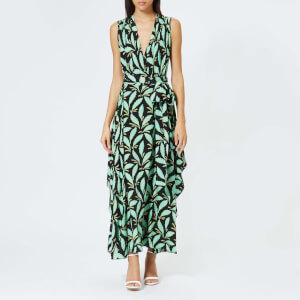 Diane von Furstenberg Women's Sleeveless Draped V Neck Maxi Dress - Mason Black