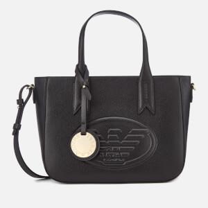 Emporio Armani Women's Frida Small Eagle Tote Bag - Black