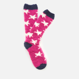 Joules Women's Fabulously Fluffy Socks - Deep Fuchsia