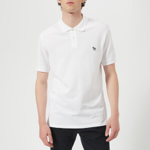 PS by Paul Smith Men's Regular Fit Short Sleeve Polo Shirt - White
