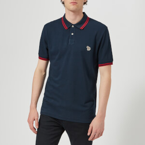 PS by Paul Smith Men's Regular Fit Short Sleeve Tipped Polo Shirt - Navy