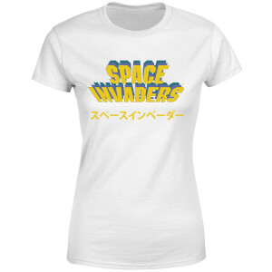 Space Invaders Japanese Women's T-Shirt - White