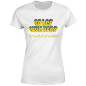 T-Shirt Femme Space Invaders Japonais - Blanc