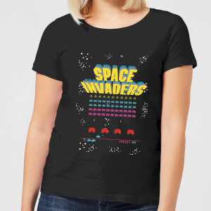 T-Shirt Femme Game Screen Space Invaders - Noir