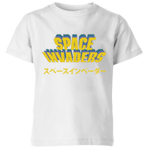 Space Invaders Japanese Kids' T-Shirt - White