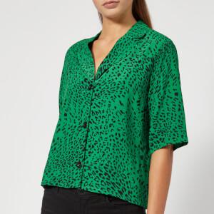 Gestuz Women's Loui Shirt - Green Leopard