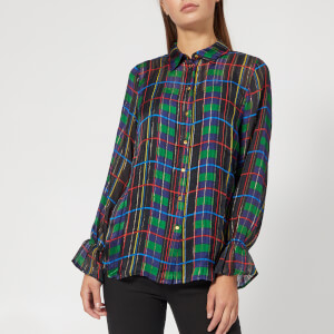 Gestuz Women's Tilde Shirt - Check Print