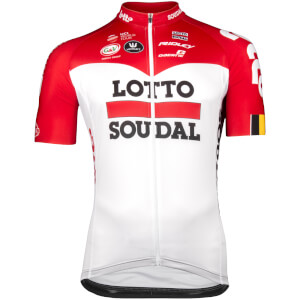 Lotto Soudal Short Sleeved Long Zip Jersey