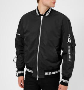 Versus Versace Men's Tape Detail Bomber Jacket - Black