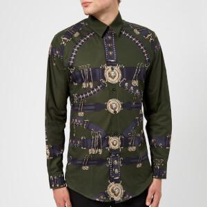 Versus Versace Men's Printed Shirt - Khaki