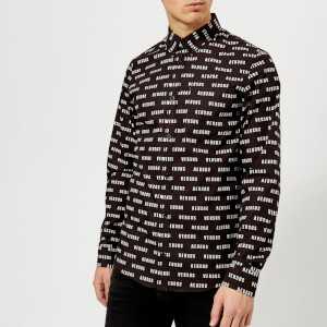Versus Versace Men's All Over Print Shirt - Black