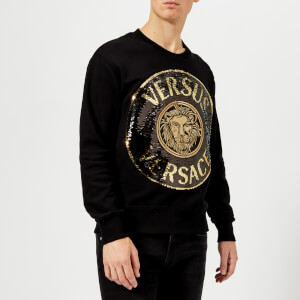 Versus Versace Men's Round Logo Sweatshirt - Black/Gold