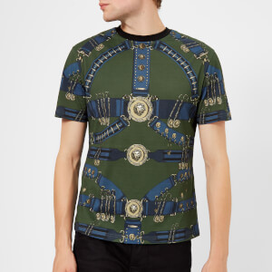 Versus Versace Men's All Over Print T-Shirt - Khaki