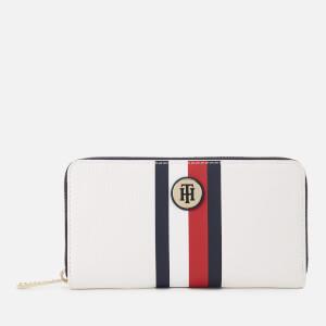 Tommy Hilfiger Women's Core Zip Around Wallet - White