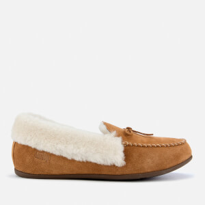 FitFlop Women's Clara Shearling Moccassin Slippers - Tumbled Tan