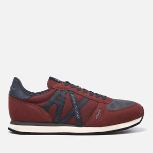 Armani Exchange Men's Nylon Running Style Trainers - Bordeaux
