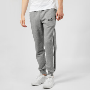 Puma Men's Elevated Essential Tape Pants - Medium Grey Heather