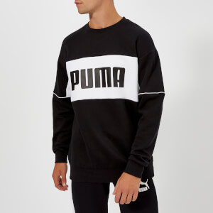 Puma Men's Retro Crew Neck Sweatshirt - Puma Black