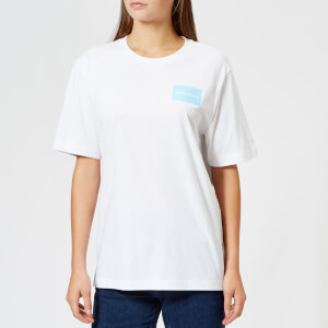 Calvin Klein Jeans Women's Geo Shape Boyfriend Fit T-Shirt - Bright White